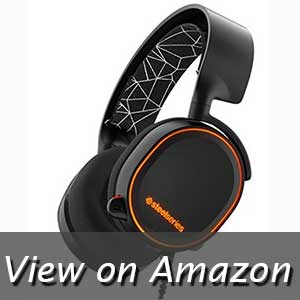 SteelSeries 61443 Arctis 5 RGB Illuminated Gaming Headset with DTS Headphone